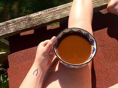 Morning coffee tattoo wishbone