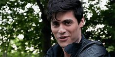 gif, smile, and alec lightwood image