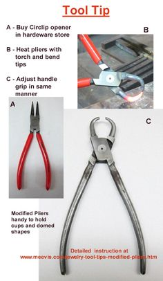 Jewelry Tool Tips - Modified Pliers How to modify pliers for specific needs and uses. DIY / Tools / Jewelry Making / Craft