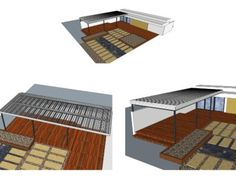 Installing a clear pergola roof was the best decision ever. It has turned our side yard is a three season patio that we can enjoy in any weather. Pergola With Roof, Pergola Plans, Carport Kits, Strawberry Planters, Side Yards, Patio, Hot Tubs, How To Plan, Home Decor