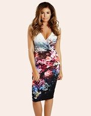 35d71871 JESSICA WRIGHT FLORAL WRAP FRONT DRESS - Lipstick Boutique / Lipsy - 2016 Jessica  Wright Dresses