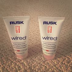 SALE 2 RUSK WIRED FLEXIBLE STYLING CREME SALE 2 RUSK WIRED FLEXIBLE STYLING CREME Rusk wired Other