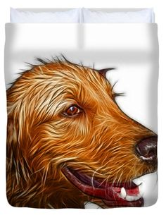 "Golden Retriever Dog Art- 5421 - WB Queen (88"" x 88"") Duvet Cover"
