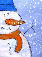 close-up snowman painting.. I do this every year!