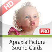App: Apraxia Picture Sound Cards APSC Pro. Created for childhood apraxia of speech (CAS) and severe phonological disorders. Pediatric Speech-Language Pathologist and apraxia specialist Lynn Carahaly, M.A., CCC-SLP, developed the Apraxia Picture Sound Cards app. Children with Down syndrome, autism, cerebral palsy, etc., that may also have a motor speech disorders can benefit from this app as well. Pinned by The Sensory Spectrum, wp.me/280vn.