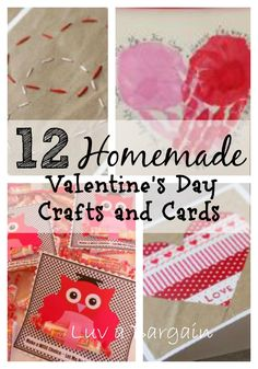 12 Homemade Valentines Day Crafts and Cards