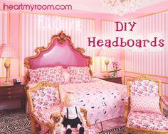 DIY Headboards. Great teen girl's room.