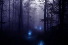Will-o'-the-Wisps are spirits in British/Celtic mythology that create little lantern-like lights off paths and roads to trick those that travel at night. If the travelers follow the lights they disappear into the bog, never to be seen again.