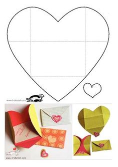 KROKOTAK PRINT! | printables for kids heart envelope Herzumschlag Karte