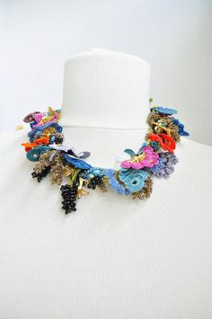 Turkish+Oya+Beaded+hand+made+lace+necklace.+Crocheted+by+OYASHOP,+$29.00