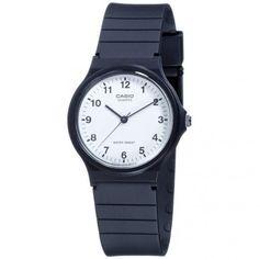a5c97d8bf71 Unisex Watch Casio Vintage Mq-24-7Bl Silicone Black White Classic Casio  Watch