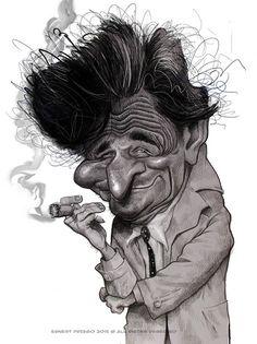 "CARICATURAS DE FAMOSOS: ""Peter Falk"" alias ""Colombo"" por Ernesto Priego"