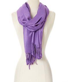 Look at this #zulilyfind! Purple Cashmere-Silk Blend Scarf #zulilyfinds