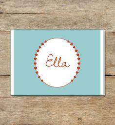 Geburtskarte | Ella  von Daisy Design Studio auf DaWanda.com