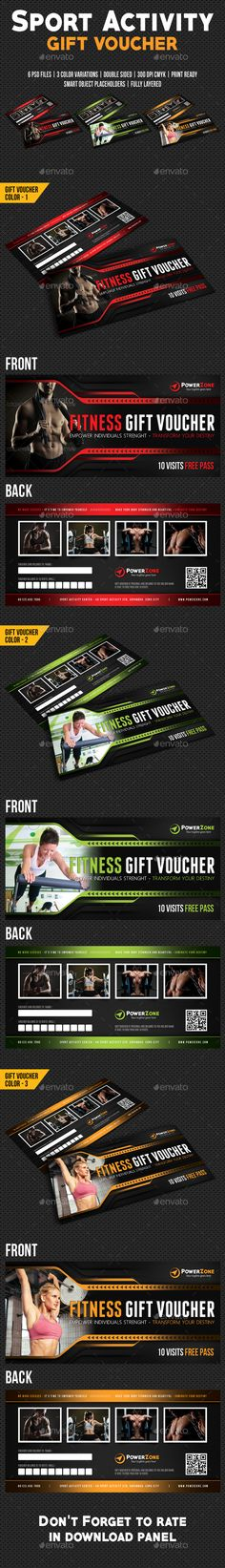 Sport Activity Gift Voucher 04 - Cards & Invites Print Templates