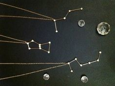 Constellations Pendants- Orion's Belt, Cassiopia, Pleiadies, Big or Little Dipper | sumally