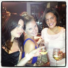 @meglouisek and the beautiful ladies wine-ing and dining at The Office.