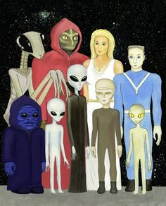 Various types of aliens