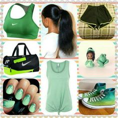 An outfit for a swimming compitition. I want those Converse!