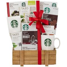 Wine Country Gift Baskets Starbucks Holiday Special ($57) ❤ liked on Polyvore featuring home and kitchen & dining