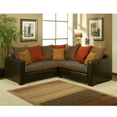 Small sectional sofa for small spaces.
