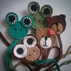 #pacifierclip#crochet#amigurumi#frog#monkey#bear