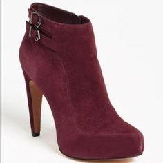 6c4cac301689 Sam Edelman Shoes | Sam Edelman Maroon Velvet Heel | Color: Red | Size: 10