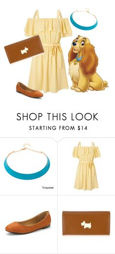 """""""Lady and the Tramp: Lady"""" by madalynofandalasia on Polyvore featuring Alexa Starr, Miss Selfridge and Radley"""