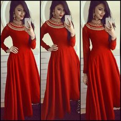 Satin+Patch+Work+Red+Plain+Semi+Stitched+Long+Anarkali+Suit+-+RLW1 at Rs 1499