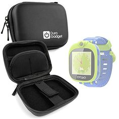 Black Hard EVA Shell Case with Carabiner Clip  Twin Zips for Orbo Kids Smartwatch with Rotating Camera  by DURAGADGET >>> See this great product. (Note:Amazon affiliate link)