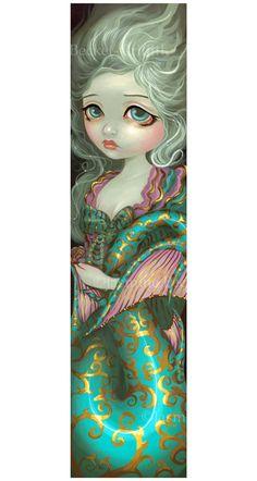 Mermaid in Rococo french fairy art print by Jasmine by strangeling, $29.99