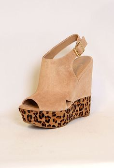 Peep Toe Slingback Wedge