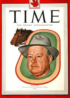 Time Magazine May 30 1949 Ben Jones Citation for Coaltown and plenty to Ponder Ben Jones, Time Magazine, Magazine Covers, Vintage Magazines, Horse Racing, Rage, The Twenties, Vintage Outfits, Baseball Cards