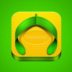 Havaianas icon Web Design, App Icon Design, Logo Design, Design Set, Graphic Design, Mobile Application Design, Ios App Icon, App Logo, Iphone Icon