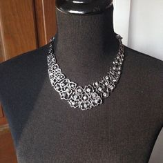 BCBG Femme Fatale Silver and Blue Necklace Brand new accent necklace. Can be worn with classic or modern looks. BCBGMaxAzria Jewelry Necklaces