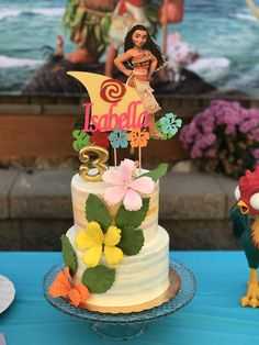 This Moana cake topper is a must to finish off the cake for your kid! Size: around 6 inches H 6inches W ( without stick) Customize the name. This is a personalized item, dont forget to leave a message at NOTE TO SELLER box before check out, with: -Name (please first name only)