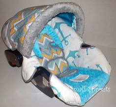 Quentin Boutique Nautical Boys Infant Car Seat Cover | Little Ones