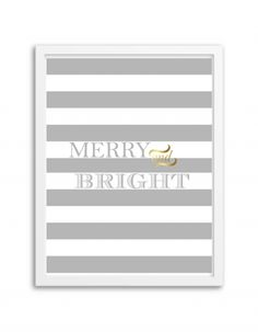 Free Printable Merry and Bright Wall Art from @chicfetti - just print and frame! #freeprintable