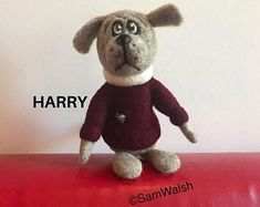 Needle Felted Soft Sculpture Gifts by on Etsy Needle Felted Animals, Felt Animals, Needle Felting, Dog Lover Gifts, Dog Gifts, Dog Lovers, Felt Gifts, Felt Dogs, Quirky Gifts