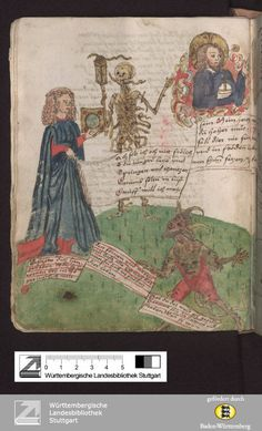 Vergänglichkeitsbuch - Cod.Don.A III 54 Titelbeschreibung Zimmern, Wilhelm Werner von[Schloß Herrenzimmern][1540/1550]