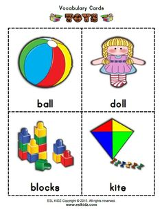 Vocabulary Cards, Worksheets For Kids, Kite, Esl, Activities, Dolls, Games, Pictures, Toys