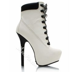 a7042304db75 Shoespie Graceful Lace Up Platform High Heel Ankle Boots