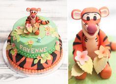 Vrolijke Tijgertje taart voor de twee-jarige Fayenne