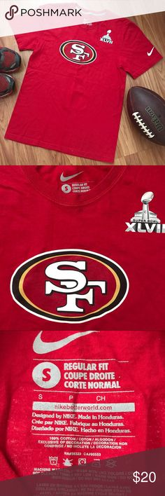 San Francisco 49ers Colin Kaepernick T-Shirt This is a listing for a San Francisco SF 49ers Nike T-Shirt. This shirt is in good used condition! Adult small. No trades. Please feel free to ask any questions. Nike Shirts Tees - Short Sleeve