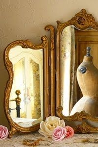 vintagehomeca: one-of-those-things: inspired-design: Corset Laced Mannequins, A Vintage Shop - Dressers Today Decoration Baroque, Dress Form Mannequin, Vintage Mannequin, Trumeau, Photo Deco, French Mirror, Mirror Image, Mirror Mirror, Dresser Mirror