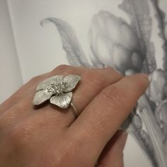 Excited to share the latest addition to my #etsy shop: Contemporary ring, hydrangea ring Nature inspired jewelry, Chunky silver ring #openring #naturering #sterlingsilver Hydrangea, Art Nouveau, Chunky Silver Rings, Open Ring, Last Minute Gifts, Flower Pendant, Real Flowers, Chain Pendants, My Flower