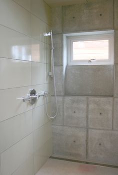 Ultra Modern Claymonde Shower Install at Fireclay Tile, www.fireclaytile.com