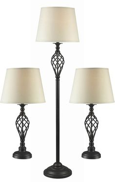 Buy the Kenroy Home Oil Rubbed Bronze Direct. Shop for the Kenroy Home Oil Rubbed Bronze Pack of 3 Avett 1 Light Floor Lamp and 2 Table Lamps and save. Living Room End Tables, Living Rooms, Buffet Lamps, Unique Lamps, Modern Lamps, Pipe Lamp, Table Lamp Sets, Bedroom Lamps, Bedroom Lighting