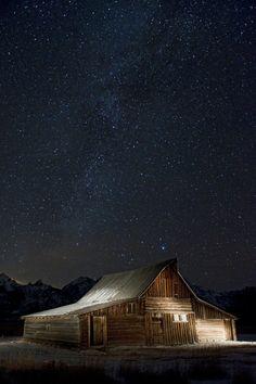 Old barn on Mormon Row Grand Teton National Park, Wyoming
