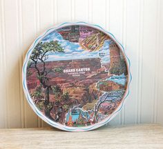 Vintage Souvenir Tray Grand Canyon mid century road by MollyFinds, $16.00
